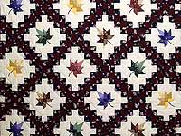 Navy Burgundy and Multicolor Autumn Splendor Irish Chain Quilt