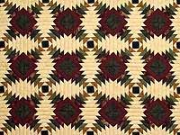 Burgundy Tan And Earth Tones Pineapple Quilt