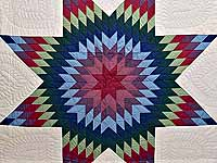 Amish Bright Lone Star Quilt