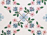 Pastel Appliqué Spring Flower Quilt