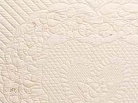 King All Neutrals Heart of Roses Quilt