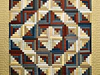 Country Colors Log Cabin Quilt