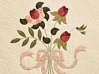 King Rose and Ivory Lancaster Treasures Quilt