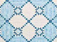 King Pastel Blue and Ivory Stars in the Cabin Quilt