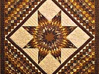 Brown and Gold Lone Star Trip Quilt