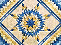 Yellow and Blue Lone Star Trip Quilt