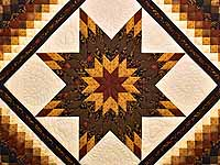 King Brick Gold and Black Lone Star Trip Quilt