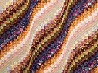 Hand Painted Bargello Wave Quilt