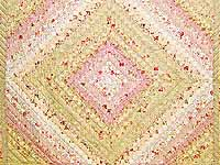 Pastel Pink and Willow Color Splash Quilt