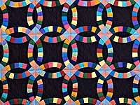 Almost Amish Extra Fine Double Wedding Ring Quilt