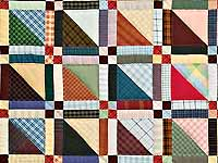 King Plaid Homespun Squares Quilt