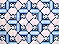 Blue Navy and Ivory Stars in the Cabin Quilt