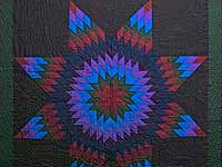 Amish Lone Star Quilt