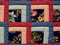 Blue and Rose Garden Shadow Quilt