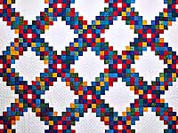 King Bright Multicolor Triple Irish Chain Quilt
