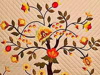 Sunset Tree of Life Appliqué Quilt