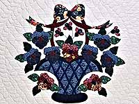 Applique Pansy Basket Quilt