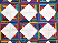 Colorful Log Cabin Quilt