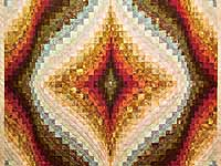 King Hand Painted Diamond Bargello Quilt