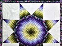 Green and Purple Lone Star Country Bride Quilt