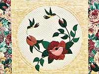 Rose and Wheat I Promised You a Rose Garden Quilt