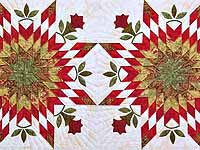 King Sage and Red Starburst Quilt