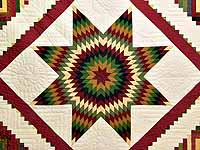 Country Colors Extra Fine Lone Star Log Cabin Quilt