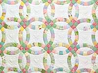 Pastel Double Wedding Ring Quilt
