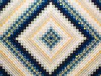 King Navy Blue and Gold Trip Around the World Quilt