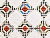 Country Colors Nine Patch on Point Quilt