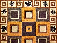 King Gold Brown and Tan Corbi Quilt