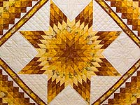 King Gold and Cream Lone Star Trip Quilt