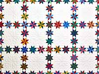 Multicolor Starry Path Quilt