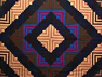 King Midwest Amish Log Cabin Quilt