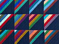 Almost Amish Roman Stripe Quilt