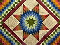 Amish Paper Bag Lone Star Trip Quilt