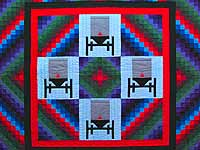 King Amish Sunshine and Shadow Buggies Quilt