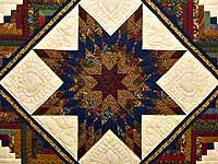 King Country Colors Lone Star Log Cabin Quilt