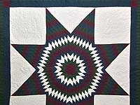 King Amish Bright Lone Star Quilt