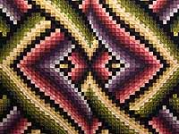 Multicolor Bargello Links Quilt