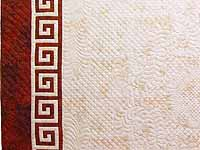 King Red and Golden Cream Carolyn Quilt with Shams