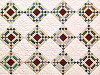 King Country Colors Nine Patch on Point Quilt