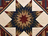 Country Colors Lone Star Log Cabin Quilt