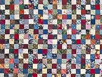 King Navy Burgundy and Multicolor Hit or Miss Quilt