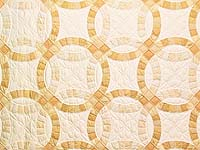 Extra Fine Golden Yellow Double Wedding Ring Quilt