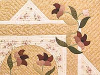 Dusty Rose and Golden Tan Rainbow Reflections Quilt