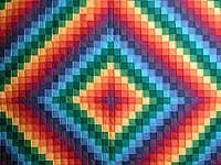 Rainbow Trip Around the World Quilt