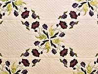 Plum Rose and Willow Poppy Fields Quilt