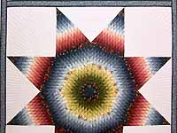 King Multicolor Lone Star Quilt