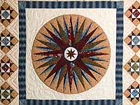 Blue Savanah  Mariners Compass Quilt